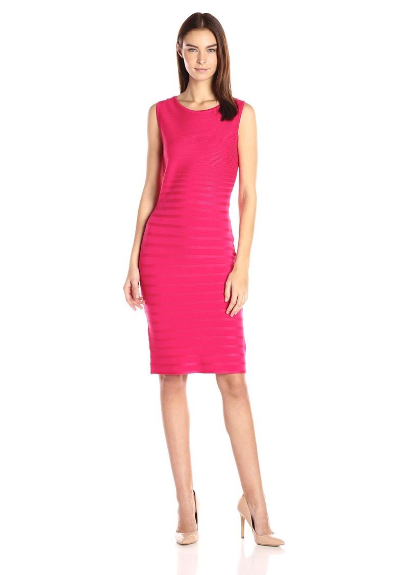 Calvin Klein Women's Rib Striped Dress  S