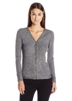 Calvin Klein Women's Marled Ribbed Cardigan  XL