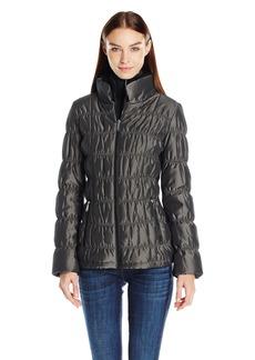 Calvin Klein Women's Ribbed Collar Puffer Jacket  L
