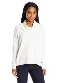 Calvin Klein Women's Ribbed Cowl Neck Sweater