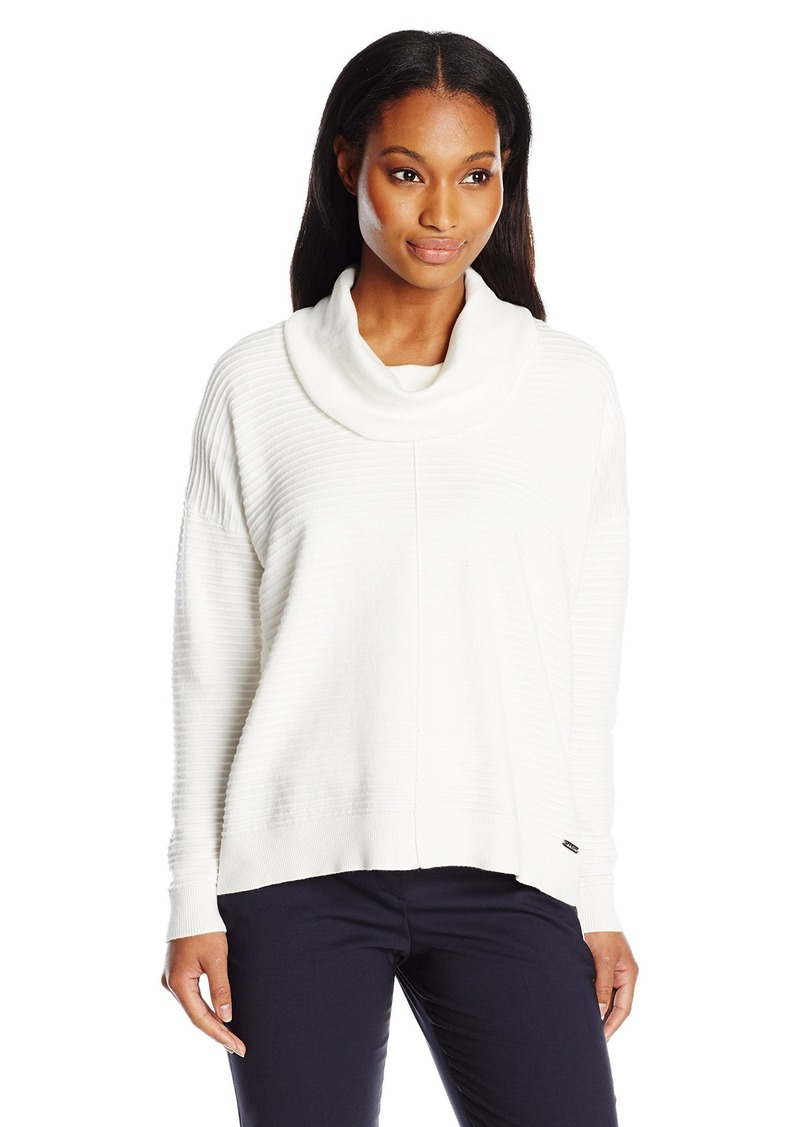 Calvin Klein Calvin Klein Women's Ribbed Cowl Neck Sweater ...