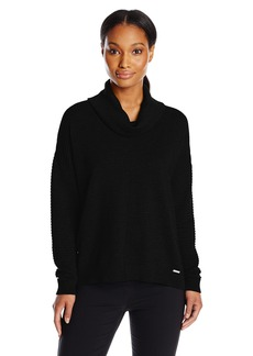Calvin Klein Women's Ribbed Cowl Neck Sweater