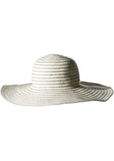 Calvin Klein Women's Ribbon Sun Hat with Lurex Straw