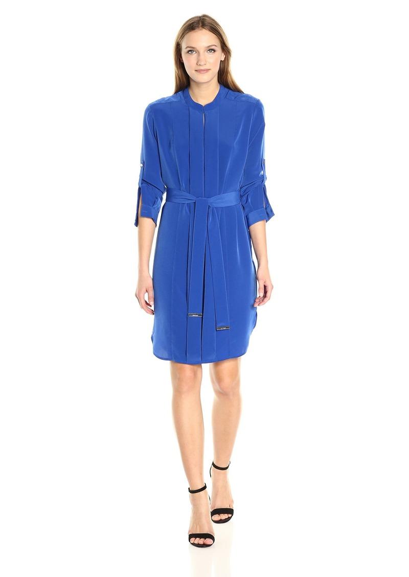 Calvin Klein Women's Roll Sleeve Dress with Belt  M
