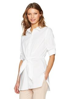 Calvin Klein Women's Roll Sleeve Tie Waist Tunic  S