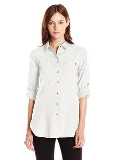 Calvin Klein Women's ROLL Sleeve Tunic  L