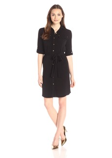 Calvin Klein Women's Roll Up Shirt Dress