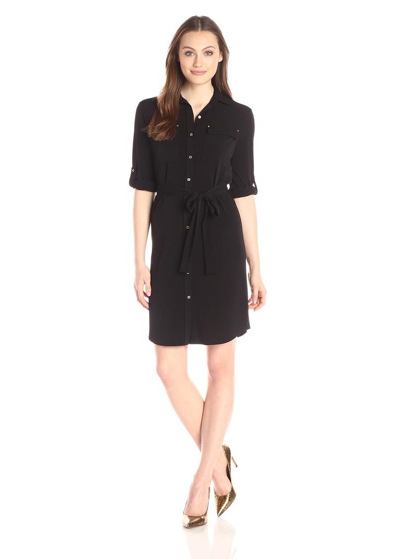 Calvin Klein Women's Roll Up Shirt Dress