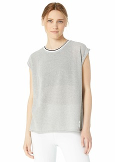 Calvin Klein Women's Rolled Cuff Short Sleeve Tee
