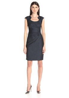 Calvin Klein Women's Ruched Denim Dress
