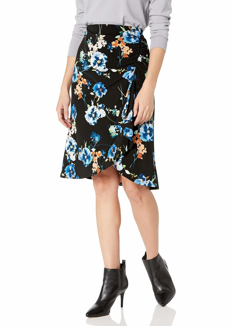 Calvin Klein Women's Ruched Skirt black Multi