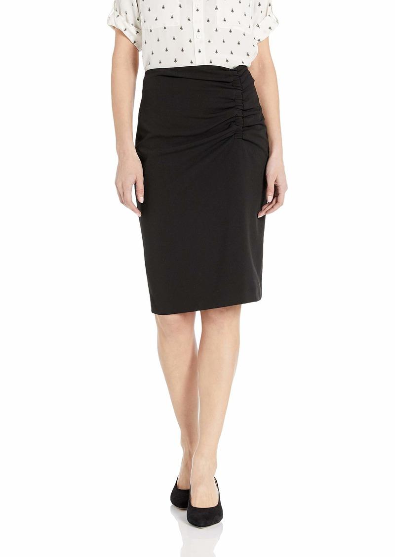 Calvin Klein Women's Ruched Skirt with Tie
