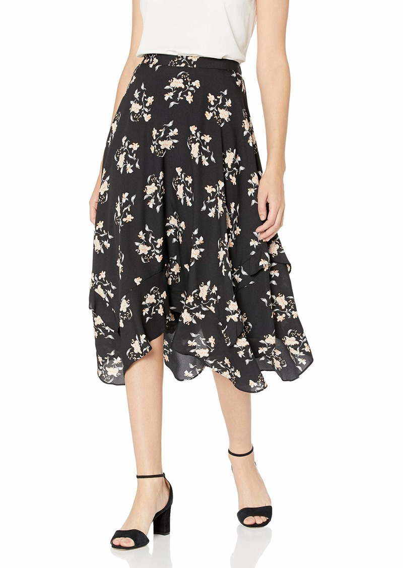 Calvin Klein Women's Ruffle Detailed MIDI Skirt