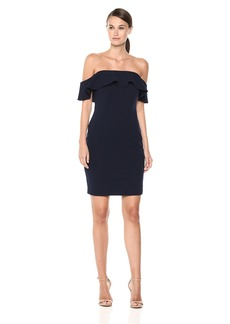 Calvin Klein Women's Ruffle Off-The-Shoulder Sheath Dress