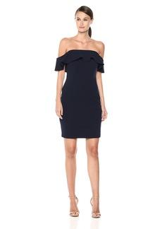 Calvin Klein Women's Ruffle Off-The-Shoulder Sheath Dress