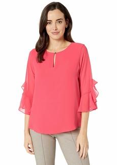 Calvin Klein Women's Ruffle Sleeve Blouse