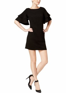 Calvin Klein Women's Ruffle Sleeved Wedge Dress