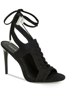 Calvin Klein Women's Santos Lace-Up Dress Sandals Women's Shoes