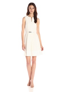 Calvin Klein Women's Scalloped Eyelet Dress