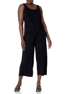 Calvin Klein Women's Scoop Neck Jumpsuit with Front Pockets