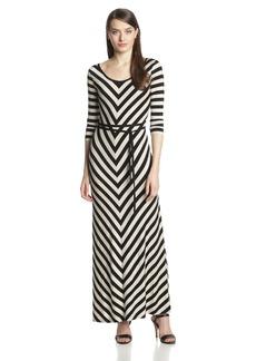 Calvin Klein Women's Scoopneck Maxi Dress with Belt