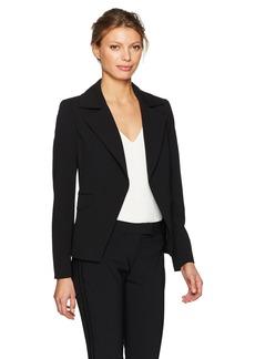 Calvin Klein Women's Scuba Crepe Flyaway Jacket