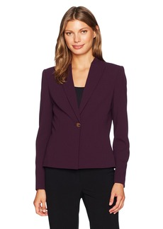 Calvin Klein Women's Scuba Crepe One Button Jacket