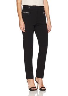 Calvin Klein Women's Scuba Crepe Pant With Hardware