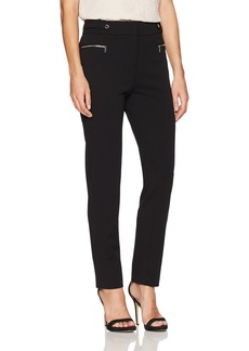 Calvin Klein Women's Scuba Crepe Pant With Hardware