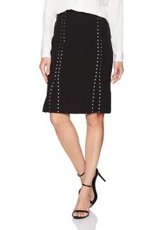 Calvin Klein Women's Scuba Crepe Pencil Skirt with Studs