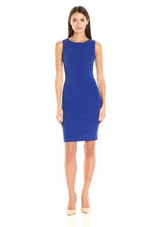 Calvin Klein Women's Scuba Crepe Starburst Sheath Dress