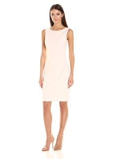 Calvin Klein Women's Scuba Crepe Starburst Sheath Dress