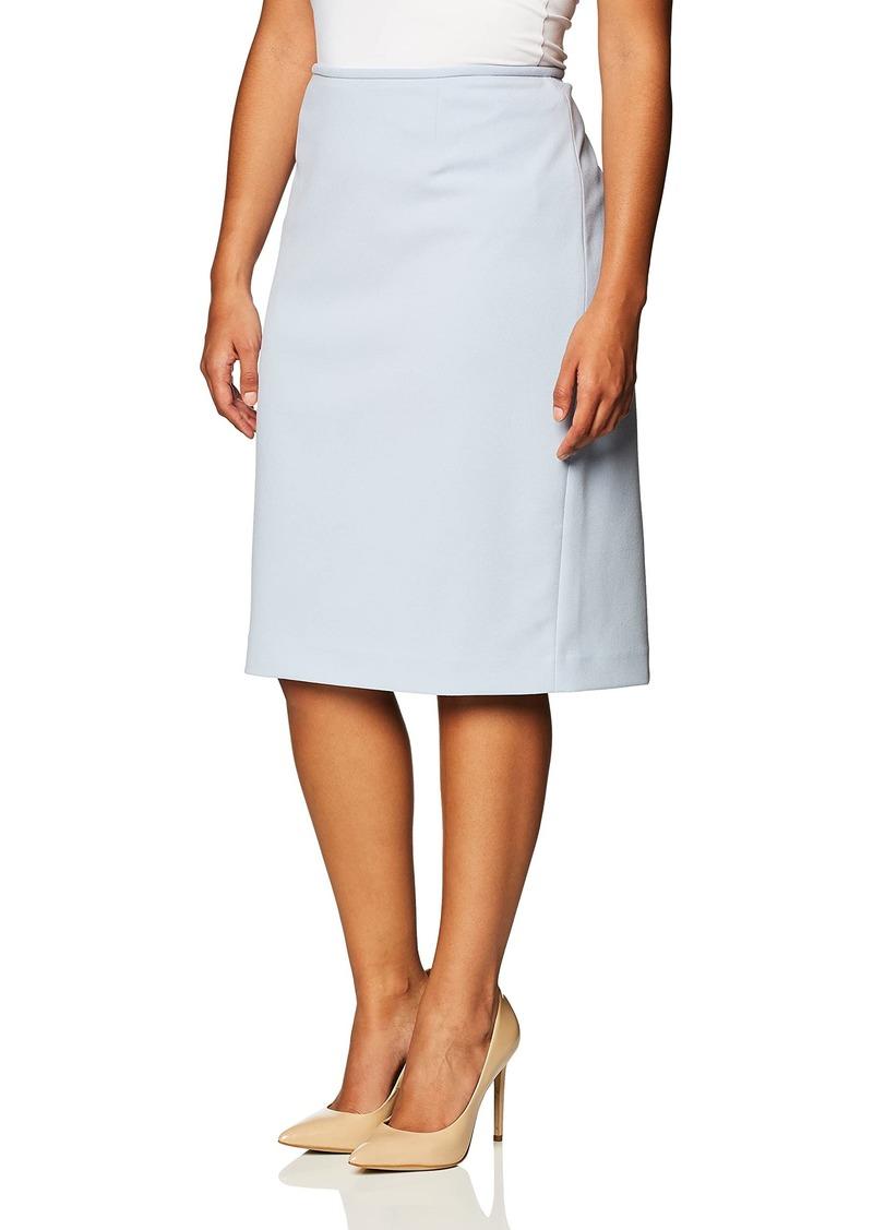 Calvin Klein Women's Scuba Crepe Straight Skirt