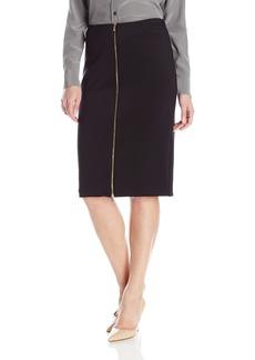 Calvin Klein Women's Scuba Skirt W/Center Zip