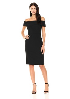 Calvin Klein Women's Seamed Off The Shoulder Dress