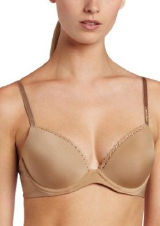 Calvin Klein Women's Seductive Comfort Customized Lift Bra with Lace Trim