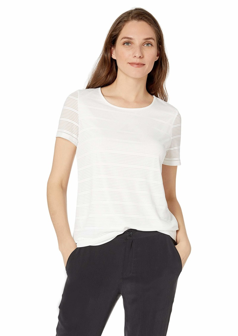 Calvin Klein Women's Shadow Stripe Tee