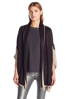 Calvin Klein Women's Shawl Collar Knit Ruana