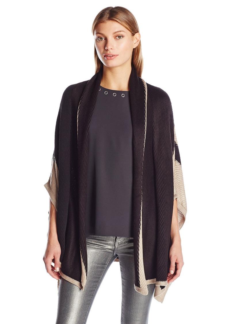 Calvin Klein Women's Shawl Collar Knit Ruana