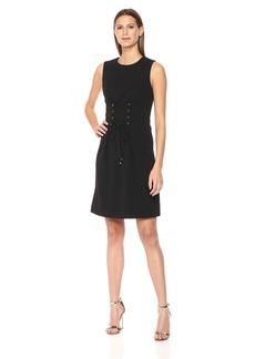 Calvin Klein Women's Sheath Dress with Lacing