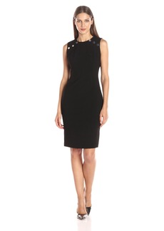 Calvin Klein Women's Sheath Dress with Large Snaps