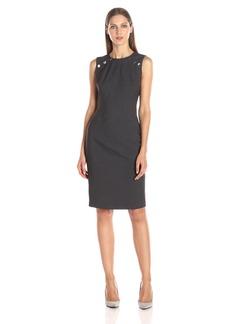 Calvin Klein Women's Sheath Dress with Large Snaps