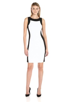 Calvin Klein Women's Sheath Dress with Novelty Center Panel