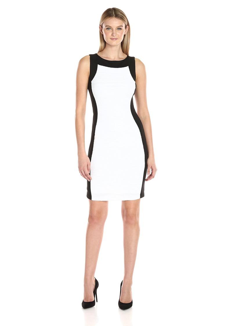 Calvin Klein Women's Sheath Dress with Novelty Center Panel