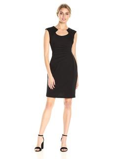 Calvin Klein Women's Sheath Dress with Ruching