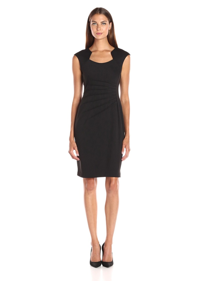 Calvin Klein Women's Sheath Dress With Ruching