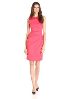Calvin Klein Women's Sleeveless Scuba Starburst Sheath Dress
