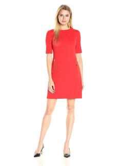 Calvin Klein Women's Sheath Dress With Zipper Pocket