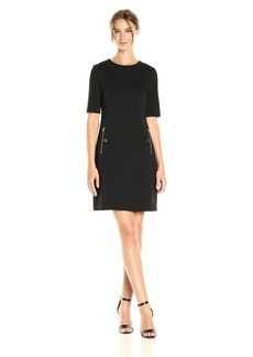 Calvin Klein Women's Sheath Dress With Zipper Pocket