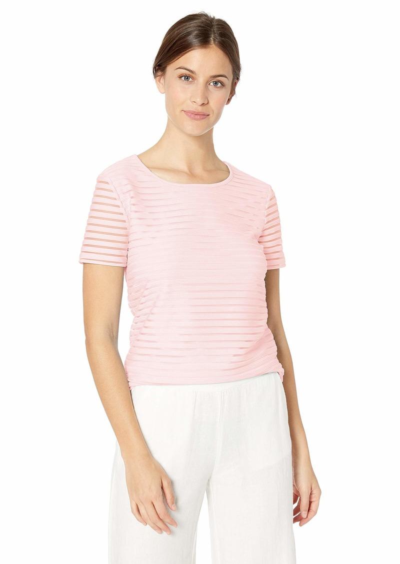 Calvin Klein Women's Sheer Stripe T-Shirt
